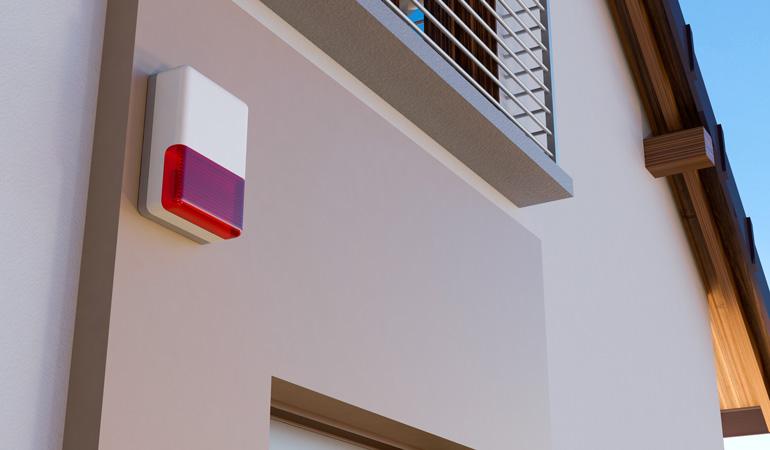 Exemple d'alarme de maison moderne et discrète