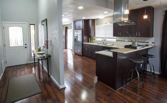 sol stratifi pour cuisine bien choisir son rev tement. Black Bedroom Furniture Sets. Home Design Ideas