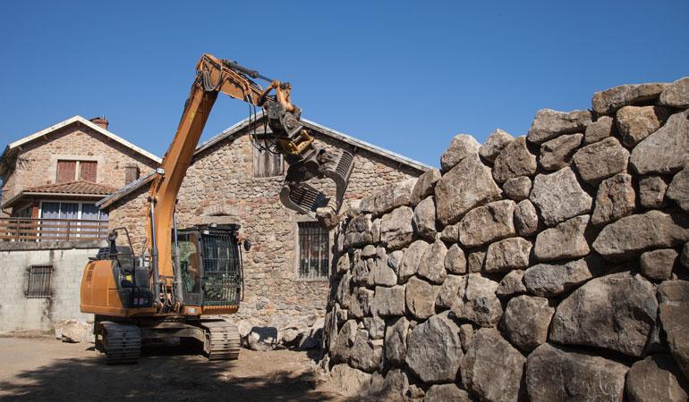 Construction d'un mur de soutènement : Coût de la main-d'œuvre