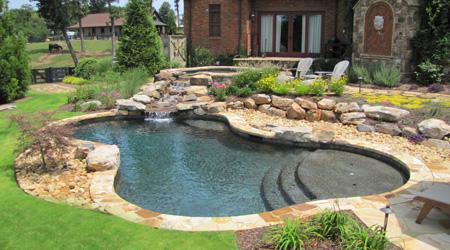 Bassin hors sol avec cascade stunning cheap dcoration faire bassin balcon ciment inoui comment - Bassin baignade prix grenoble ...