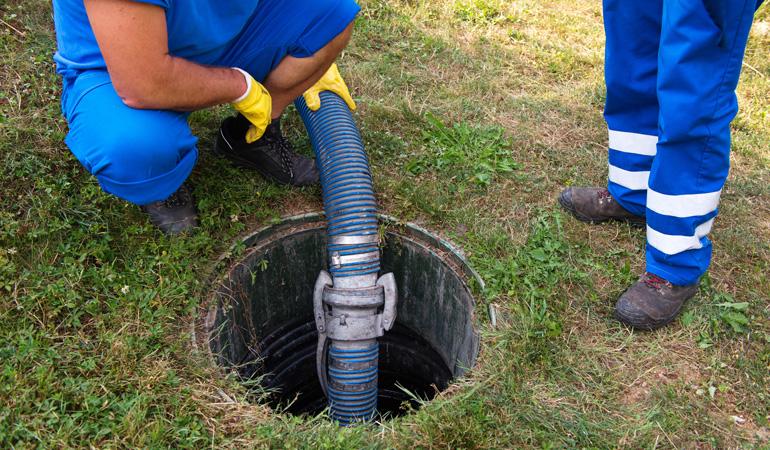 Déroulement d'une vidange de fosse septique