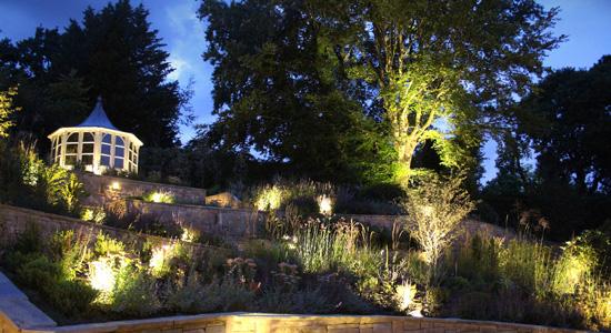L'éclairage d'un jardin arboré : Le clair-obscur
