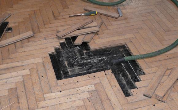 Etapes principales de la rénovation d'un parquet