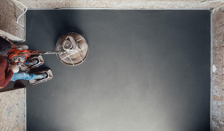 Exemple de chape ciment avec finition ultralisse
