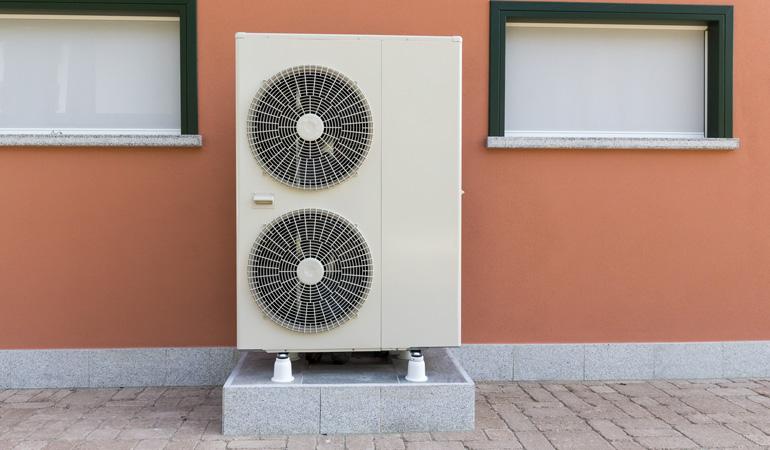Exemple de pompe à chaleur moderne haute puissance