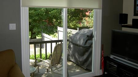 L'installation d'une baie vitrée coulissante