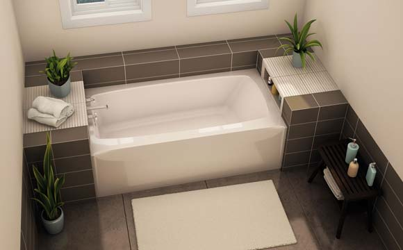 Installatation d 39 une baignoire bien choisir et valuer le co t - Prix d une salle de bain cle en main ...