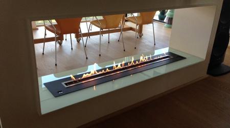 Installation d'une cheminée éthanol