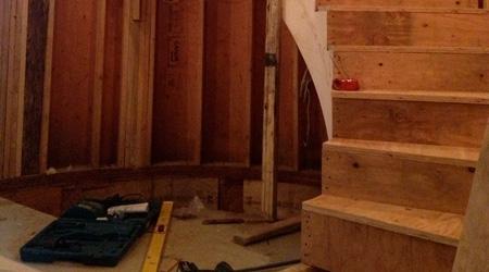 La réalisation d'un escalier colimaçon