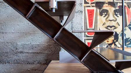 La réalisation d'un escalier métal