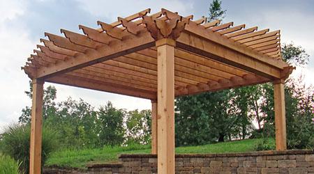 La construction d'une pergola en bois