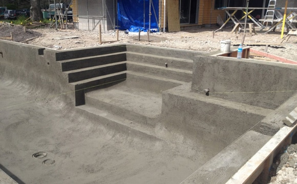 la construction dune piscine bton