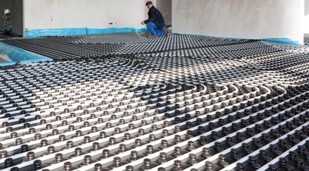 L'installation d'un plancher chauffant hydraulique