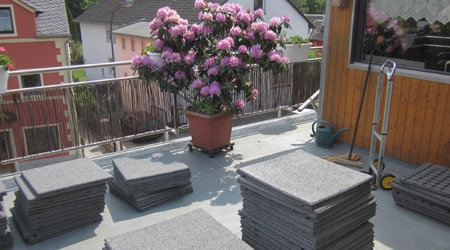 La construction d'un toit terrasse