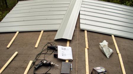 L'installation d'une toiture bac acier