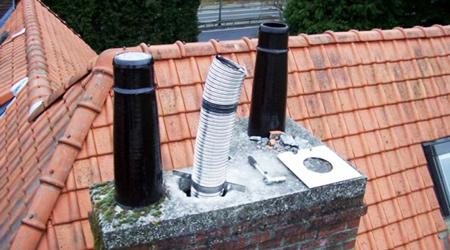 Installation d'un tubage de cheminée