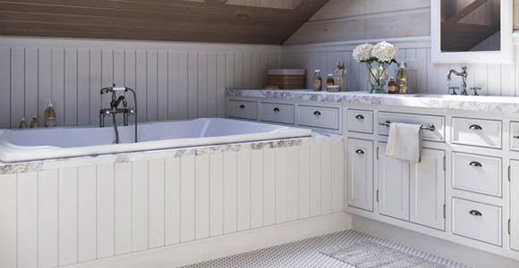 Du lambris dans une salle de bain : PVC ou bois traité ?