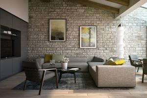 Le charme d'un mur en pierre apparente dans le salon