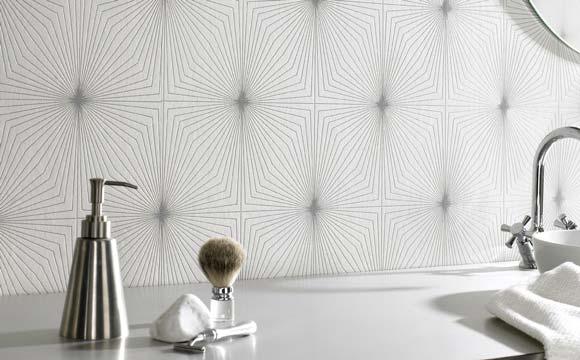 papier peint pour salle de bain pensez la r sistance l 39 eau. Black Bedroom Furniture Sets. Home Design Ideas