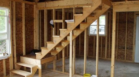La réalisation d'un escalier quart tournant