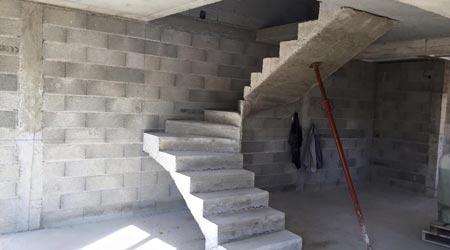 La pose d'un escalier