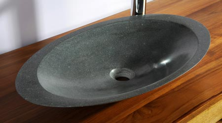 La pose d'un lavabo