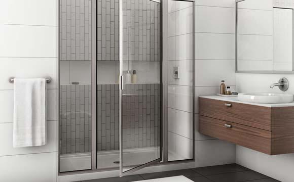 Pose d'une paroi de douche pivotante
