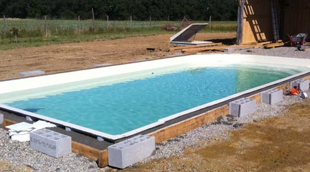 Pose Piscine Coque