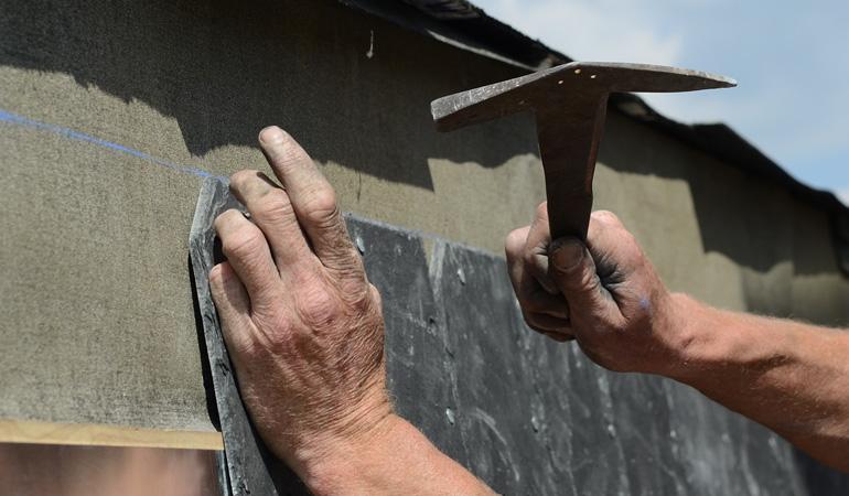 Pose d'une toiture en ardoise : Coût de la main-d'oeuvre