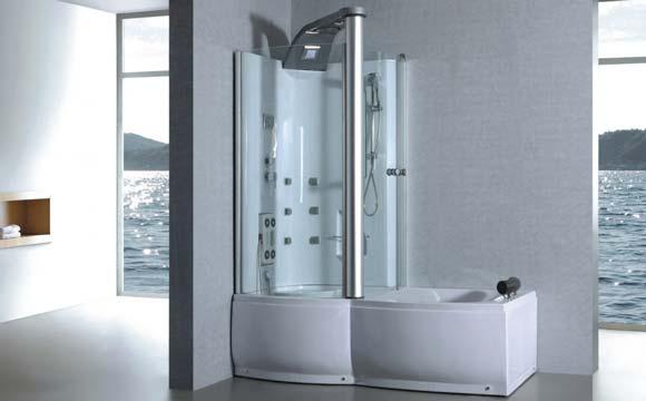 Le principe d'un combiné baignoire douche