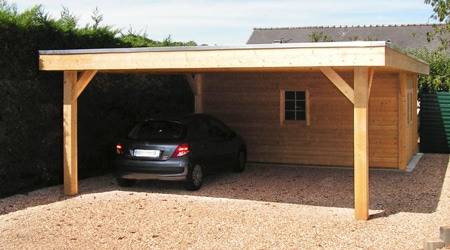 Prix d 39 un carport tarif moyen co t de construction for Devis construction garage 30m2