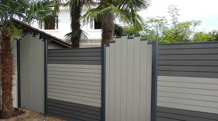 Prix d'une clôture bois composite