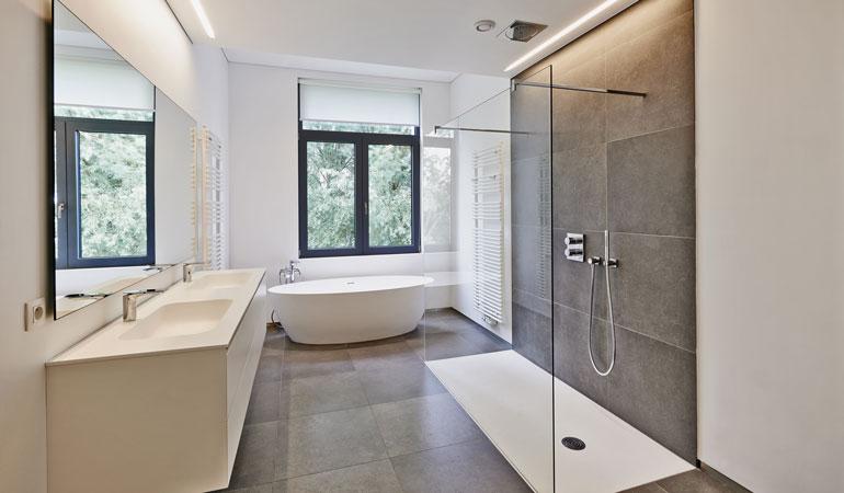 Coût d'une douche à l'italienne selon les composants