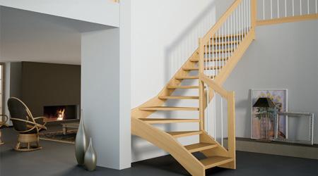 Prix d'un escalier bois en hévéa