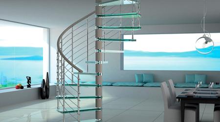Prix d'un escalier en colimaçon en verre