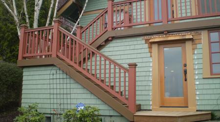 Prix d'un escalier extérieur en bois