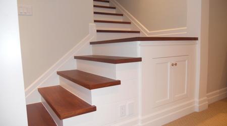 Prix d'un escalier quart tournant bois