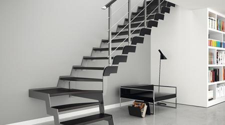 Prix d'un escalier quart tournant métal