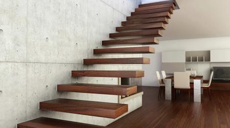 Prix d'un escalier suspendu en bois