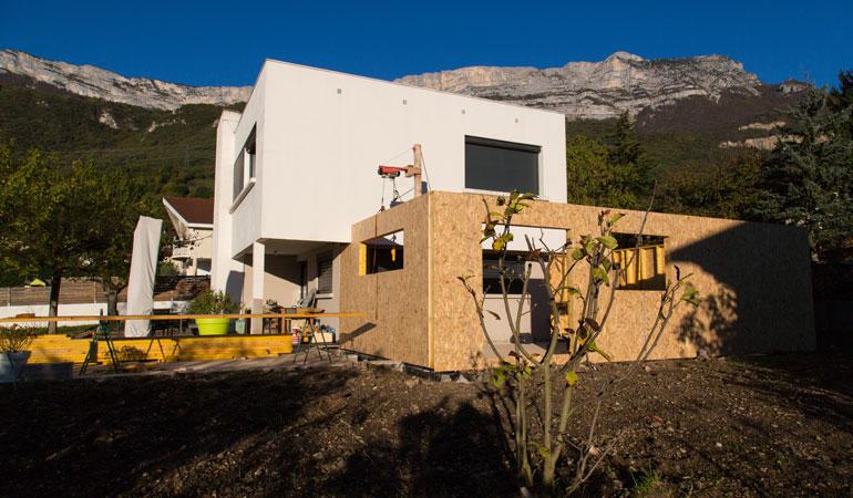Prix d'une extension de maison : Structure ossature bois