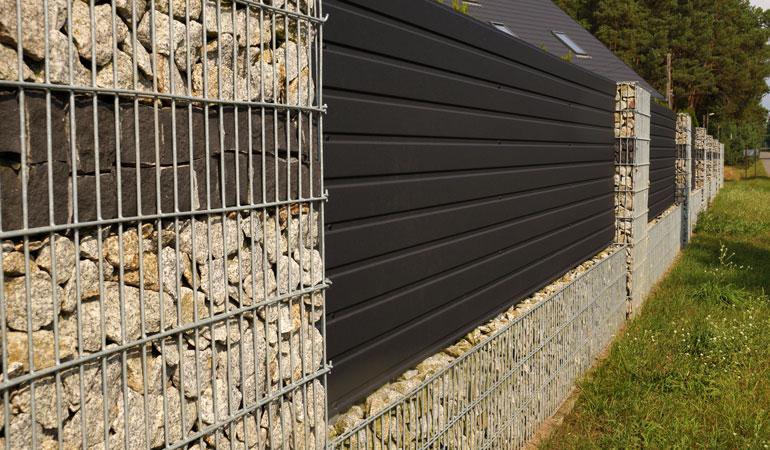Prix d'un mur de clôture en gabion