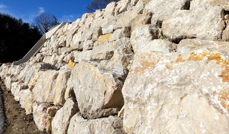 Prix d'un mur de soutènement en pierre