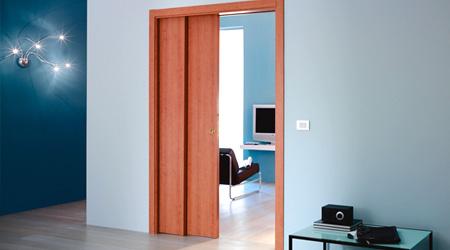 Prix d 39 une porte coulissante co t moyen tarif de pose - Porte coulissante integree dans la cloison ...
