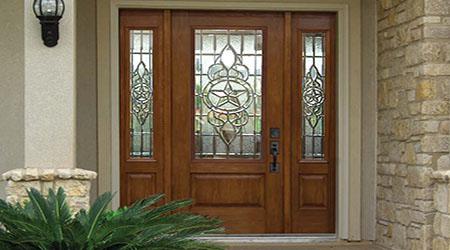 Prix d'une porte d'entrée vitrée en bois