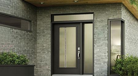 Prix d'une porte d'entrée vitrée en acier