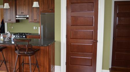 Prix d'une porte intérieure sur mesure en bois