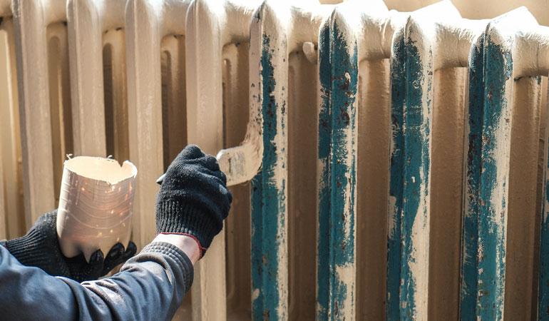 Prix des travaux de peinture : Les radiateurs