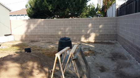La réalisation d'un sablage de façade
