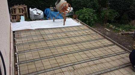 La construction d'une terrasse béton