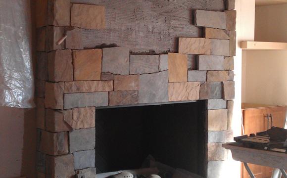 Rénover l'habillage d'une cheminée